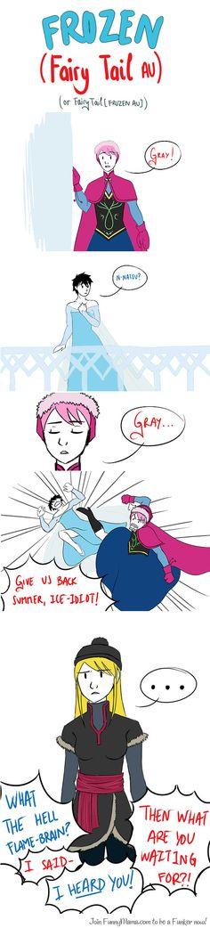 Frozen x Fairy tail AU