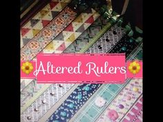 Craft Fair Idea #5: Altered Rulers....with my sister Bri! - YouTube