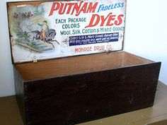 Sale Advertising Store Display Box Putnam Dyes by NaturalVintage