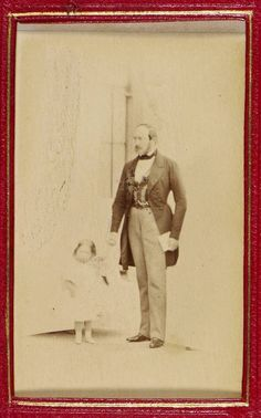 Princess Beatrice, aged with her father Prince Albert, 24 May Collection)