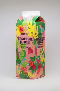 Milk Packaging, Packaging Design, Bottle Design, Drink Bottles, Yogurt, Scandinavian, Juice, Packing, Branding