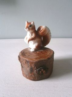 Hey, I found this really awesome Etsy listing at https://www.etsy.com/listing/109199597/vintage-squirrel-woodland-figure-on-tree