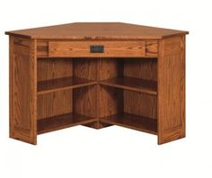 extraordinary executive office desk | Amish Arts and Crafts Corner Computer Desk with Side ...