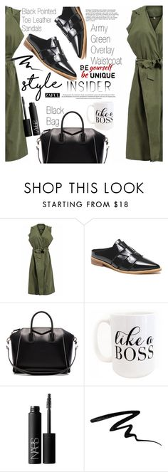 """Like a boss"" by vanjazivadinovic ❤ liked on Polyvore featuring Givenchy, Moon and Lola, NARS Cosmetics and Eyeko"