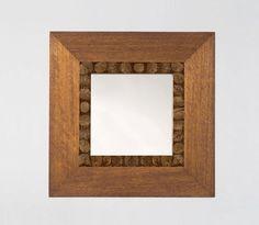 Espejo de pared / moderno / cuadrado / de madera AFRICA: 35-430 Adriana Hoyos