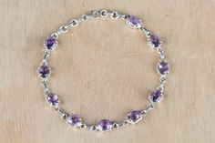 ‪#‎Wholesale‬ ‪#‎Retail‬ ‪#‎Beautifully‬ ‪#‎Handmade‬ ‪#‎Faceted‬ ‪#‎Amethyst‬ Gemstone ‪#‎Bracelet‬ for Women,by Brillante Jewelry Made from 92.5 sterling Silver #Faceted #Amethyst Gemstone #Bracelet. And by using Natural Gemtones..Pick this #Bracelet to add new definition to your Personality.About the Brand-Associated with Glamour,style and class,Brillante–Jewelry fashion jewelry appeals to,women across all age-groups.