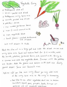 Vegetable #Curry from the Edible Schoolyard