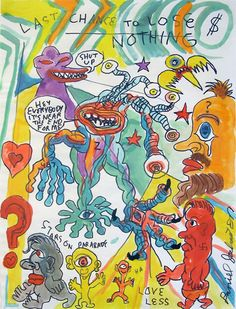Daniel Johnston is one of my great inspirations in life. Not only is his music fantastic, but his art is so inspiring. Arte Indie, Indie Art, Pretty Art, Cute Art, Collage Art, Collages, Art Sketches, Art Drawings, Daniel Johnston
