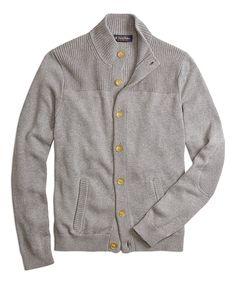 fb445c7e759 Mockneck Cardigan Grey Tomboy Fashion