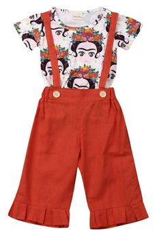 Fleek Frida 2Pcs Set Smile Face, Baby Things, Tops, Women, Fashion, Moda, Fashion Styles, Fashion Illustrations, Woman