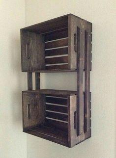 Idéia do que fazer com caixotes de madeira