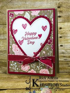Meant to Be Valentine's Day Card (Bonus Card for January's Stamps to Go Club) – Rick D. Adkins (Independent Stampin' Up! Valentines Day Cards Handmade, Happy Valentines Day Card, Wedding Cards Handmade, Valentine Greeting Cards, Valentines Diy, Hand Made Greeting Cards, Greeting Cards Handmade, Cards For Boyfriend, Cards For Friends