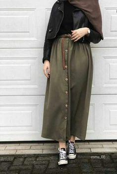 trendy Ideas for style hijab casual muslim syari – Hijab Fashion 2020 Modern Hijab Fashion, Hijab Fashion Inspiration, Muslim Fashion, Mode Inspiration, Military Fashion, Modest Fashion, Skirt Fashion, Fashion Outfits, Military Style