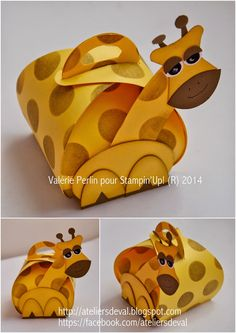 Curvy Keepsake Box Stampin Up Giraffe