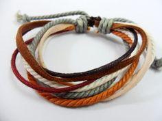 Adjustable  Multicolour Gay colors Cotton by jewelrybraceletcuff, $3.50