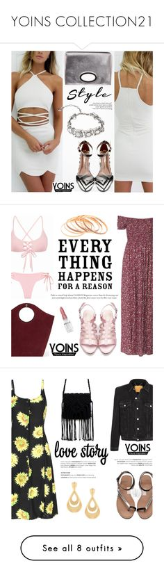 """YOINS COLLECTION21"" by helenevlacho ❤ liked on Polyvore featuring yoins, yoinscollection, loveyoins, Donald J Pliner, Elizabeth and James, Rodin, Balenciaga, contestentry, TropicalVacation and Ashlyn'd"
