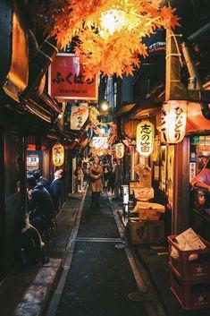 Tokyo alleyway concept for store in store underneath main floor on Bush Aesthetic Japan, City Aesthetic, Japanese Aesthetic, Japon Tokyo, Shinjuku Tokyo, Monte Fuji, Tokyo Night, Japan Street, Art Asiatique