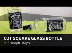 DIY: Cut Square Glass Bottle In 3 Simple Steps - YouTube