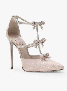 Featured Shoes: René Caovilla, Via Net-A-Porter; Blush stiletto heels