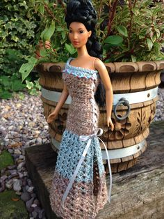 Crochet with beads for Pochahontas Barbie