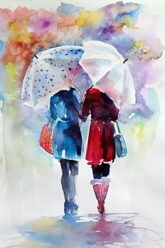 Buy Friends - perfect gift idea, Watercolour by Kovács Anna Brigitta on Artfinder. Discover thousands of other original paintings, prints, sculptures and photography from independent artists.