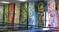 Kg Kandinsky Murals: Each class produced a mural. Each student cut ...