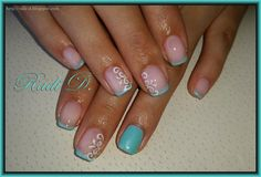 Bluesky gel polish 504, 907 'Frozen Palace' http://radi-d.blogspot.com/2015/06/light-blue-french-gel-polish.html