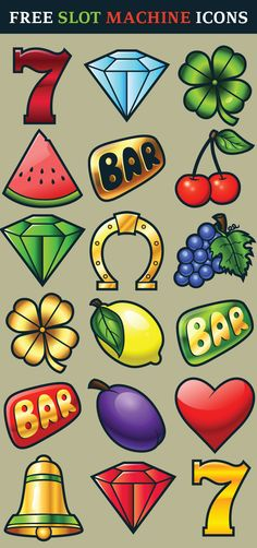 Classic Slot Machine Icons free for commercial use http://pixaroma.com/classic-slot-machine-icons/