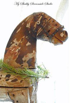 Shabby Christmas Rocking Horse