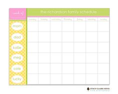 Scheduling Pad available from Note Worthy