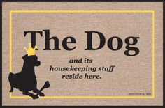 Amazon.com: High Cotton Dog and Housekeeping Staff New Doormat: Patio, Lawn & Garden