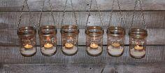 FREE SHIP Hanging Mason Jar DIY Lids Lantern by WaverlyHomeDesigns