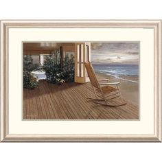 Global Gallery 'Coastal Memories' by Diane Romanello Framed Painting Print Size: 2