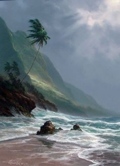 roy tabora paintings | Storm Past by Roy Tabora, Original Painting, Oil on Canvas