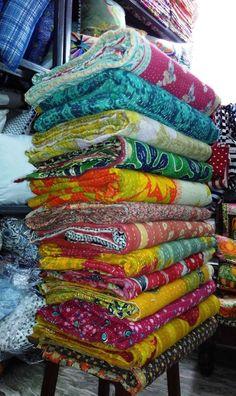 Vintage Kantha Quilt Reversible Throw Gudri Wholesale Handmade Indian Lot 10 pcs #Handmade #Traditional