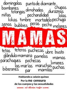 MAMAS. Campaña por la NO CENSURA de los cuerpos y las sexualidades. Ejercicios desvergonzados para el día del idioma