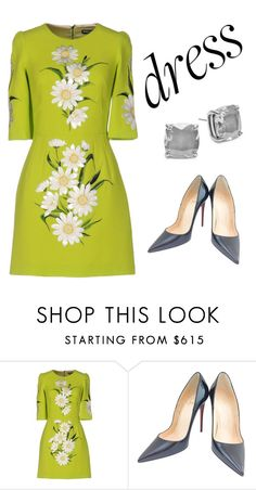 """Untitled #18"" by romares68 ❤ liked on Polyvore featuring Dolce&Gabbana, Christian Louboutin and Kate Spade"