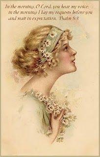 How beautiful Vintage Cards, Vintage Postcards, Vintage Images, Vintage Ephemera, Vintage Pictures, Vintage Paper, Thursday Prayer, Jeremiah 29 13, Christian Encouragement