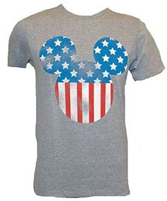 DIsney Mickey Mouse Americana Silhouette T-shirt - Coast City Styles