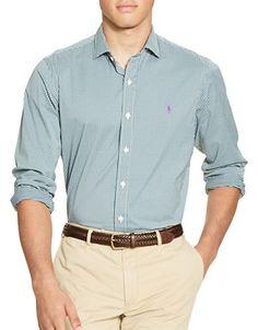 POLO RALPH LAUREN Polo Ralph Lauren Checked Stretch Performance Estate Shirt. #poloralphlauren #cloth #