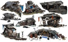 Goliath Shanty Town Callouts, Samuel Youn on ArtStation at https://www.artstation.com/artwork/goliath-shanty-town-callouts