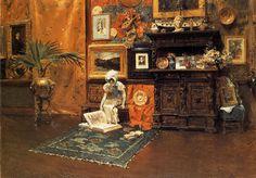 William Merritt Chase (1849-1916)  In the Studio