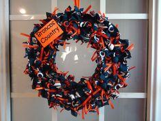 Denver Broncos Wreath. DIY