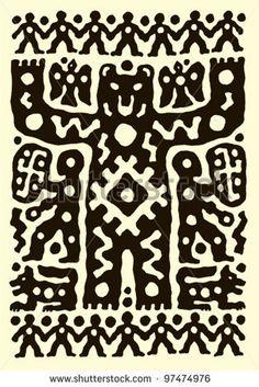 ethnic tribal native prehistoric beer witch shaman drum symbol