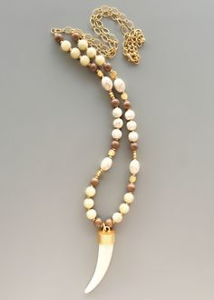 Turkish Gold Beaded Pendant Necklace – Pree Brulee