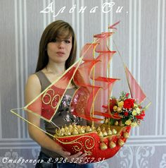 Birthday Things for Mom Boat Crafts, Flower Crafts, Diy And Crafts, Candy Art, Candy Crafts, Chocolate Flowers, Chocolate Bouquet, Wedding Crafts, Diy Wedding Decorations