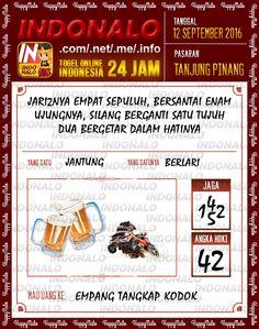 Paito Togel Wap Online Live Draw 4D Indonalo Tanjung Pinang 12 September 2016