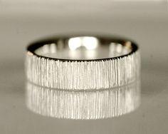 wedding band mens wedding ring unisex 14k white gold velvet no6