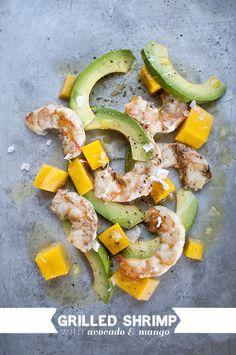 Grilled Shrimp w/ mango and avocado