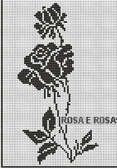 I could use this pattern for cross-stitch or knitting. Filet Crochet Charts, Crochet Motifs, Easy Crochet Patterns, Loom Patterns, Crochet Stitches, Funny Cross Stitch Patterns, Cross Stitch Charts, Cross Stitch Designs, Crochet Curtains